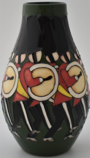 Moorcroft Pottery Christmas Vase 12 Drummers Drumming By Kerry Goodwin